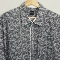 HUGO BOSS Mens Size XL Paisley Print L/S Shirt