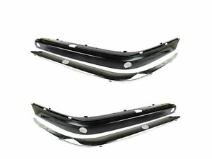 * Unpainted Front Bumper Molding Stripe+Chrome Trim For BMW E38 94-01