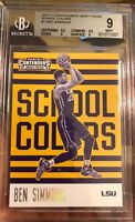 Ben Simmons Rookie Card Contenders Old School 2016 Mint 9 BGS ROY RC 76ers D