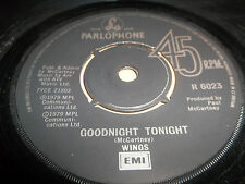 "WINGS "" GOODNIGHT TONIGHT "" 7"" SINGLE 1979 VERY GOOD+"