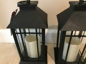 Decorative LED Lantern with Flameless Candle, set of 2, new w/tags, free ship