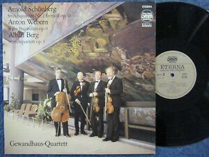 GEWANDHAUS-QUARTETT + KARL SUSKE Schönberg, Webern / LP DDR 88 ETERNA DMM 725133