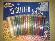 10 Farben Glitzerpulver basteln Glitzerstaub Glitzer Glitterstaub Staub Glitter