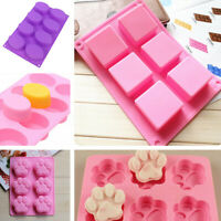 Silicone Christams Soap Mold Cake Cookie Chocolate Fondant Baking Ice Tray