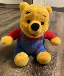 "Vintage 1997 Mattel Disney Hug N Wiggle Giggle 12"" Winnie The Pooh Talking plush"