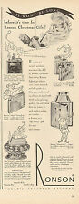 1947 vintage tobacco AD RONSON pocket and Table Lighters for Christmas! 091116