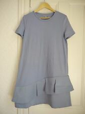 BNWT COS PALE BLUE FRILLED LAYER DRESS SIZE M