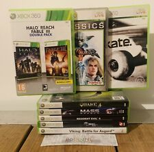 8 XBOX 360 Games Bundle - Halo Reach/Fable III, Soulcalibur IV, SKATE. - PAL CIB