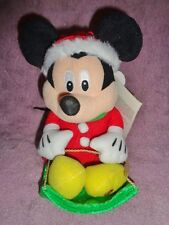 Mickey Mouse Sled Gemmy Disney Stuffed Plush Christmas Animated Wobblin Toboggan