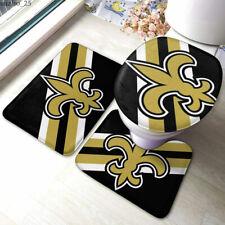 New Orleans Saints Bathroom Rugs Set 3Pcs Toilet Lid Cover Mats Non-Slip Mats
