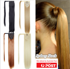 """One Piece Wrap Around Pony Tail Clip-in Hair Extensions 24"""" 61cm Long Fake Hair"""