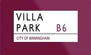 Villa Park Metal Sign, Football sign, Aston Villa sign. Retro wall sign