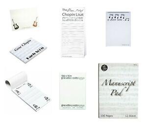 Music Notes, Notepad,Shopping List(A4Manuscript,Chopin Liszt or Gone Chopin etc)