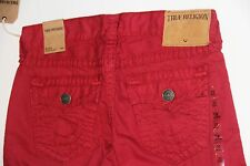 Nwt True Religion Men Denim Jeans Ricky Super T Red Straight 30 x 34