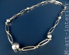 modernist ALTON Sterling Silber Collier Kette silver necklace Sweden 60s vintage