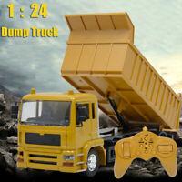 1/24 8CH Remote Control Dump Truck RC Construction Vehicles 2.4G RC Trucks Boys