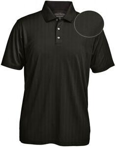 Pebble Beach Jacquard Stripe Men's Polo Shirt