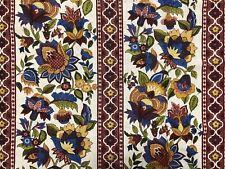 Waverly 1.4 Yds Bi-Centennial ABINGDON Home Decor Fabric Jacobean Floral (RF1056