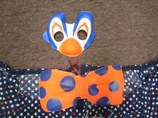 Halloween CLOWN Costume - Handmade - eye/nose mask and bow tie fits