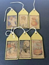 New listing Sewn Handmade Vintage Halloween Gift Tags Party gifts Cards Scrapbooking -Jenn