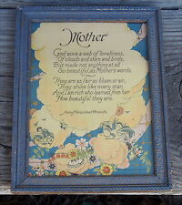 Vintage Mother Poem Motto Print by Anna Branch / Reliance Co