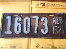 1921 Nebraska License Plate