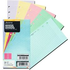 Filofax 130502 Assorted Color Notepaper Personal Size 100 Sheets Plain Amp Ruled