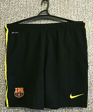 FC Barcelona Barca Black Football Soccer Training Shorts Nike Mens Size M Mint