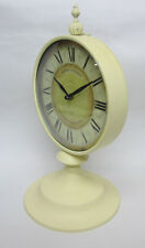 New French Provincial Mantle Clock on Pedestal Henri Dupont with Roman Numerals