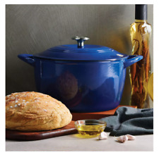 New listing Tramontina Enameled Cast Iron 7-Quart Covered Round Dutch Oven - Classic Blue