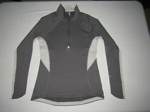 UNDER ARMOUR WOMEN'S COLD GEAR GRAY 1/2 ZIP LONG SLEEVE SEMI-FITTED SHIRT SIZE M