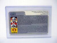 GI JOE AVAC FILE CARD Vintage Action Figure UNCUT / AWESOME SHAPE 1986