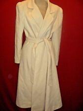 ~~di VINCI Vintage Winter White 100% Wool Belted Stroller Coat Sz 10~~