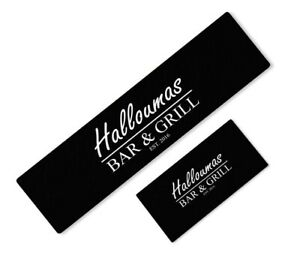 PERSONALISED BAR AND GRILL CRAFT BEER RUNNER IDEAL FOR HOME PUB PARTY OCCASION