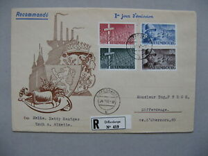 LUXEMBOURG, R-cover FDC 1947, General Patton, Sherman tank