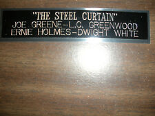 THE STEEL CURTAIN NAMEPLATE FOR SIGNED BALL CASE/JERSEY CASE/PHOTO