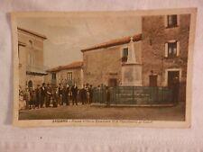 Vecchia foto cartolina d epoca di Sassano piazza Vittorio Emanuele monumento per