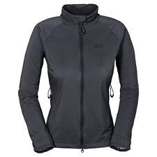 Jack Wolfskin Women's Storm Breeze Softshell Jacket, Ebony, X-Large