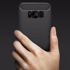 Shockproof Silicone Carbon Rugged Case Cover for Samsung Galaxy Note 8 Black