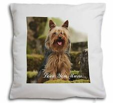 Yorkshire Terrier 'Love You Mum' Soft Velvet Feel Cushion Cover W, AD-Y84lym-CPW