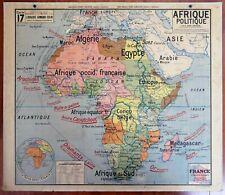 Carte scolaire AFRIQUE POLITIQUE N°17 Vidal Lablache old school map