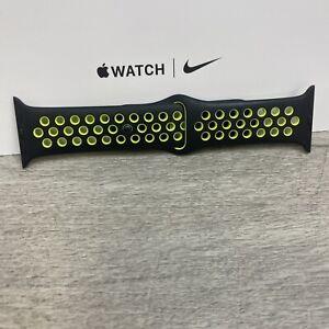 Genuine Apple x Nike Watch Sport Band Strap 38/40mm S/M - Black/Volt colour