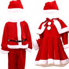 Enfant Unisexe Déguisement Père Noël Costume Robe Vêtement Ensemble Cosplay Mode