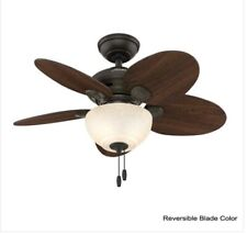 HUNTER Carmen 34 in. Indoor New Bronze Ceiling Fan with Light kit