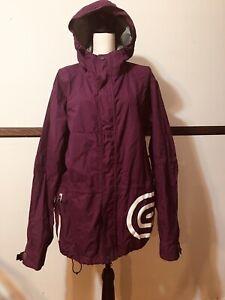 Airblaster Size medium purple hooded Snowboarding Jacket