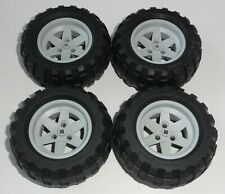 LEGO Technik Technic 4 Räder, Reifen Gr. 94.8 x 44 R Felge hellgrau, aus 8297
