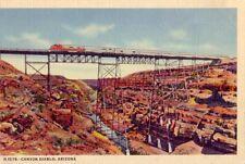 CANYON DIABLO, ARIZONA steel bridge 600 feet long, A Fred Harvey post card