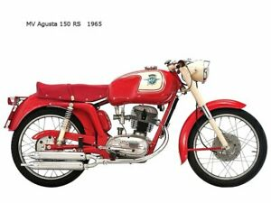 Motorcycle Canvas Picture MV Agusta 150RS 1965 Canvas 16x12 inch