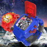 Children Watches Transformer Robot Cartoon Digital Watch Gift For Kids Boys AY