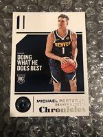 2018-19 Panini Chronicles #73 Michael Porter Jr. RC Rookie Nuggets